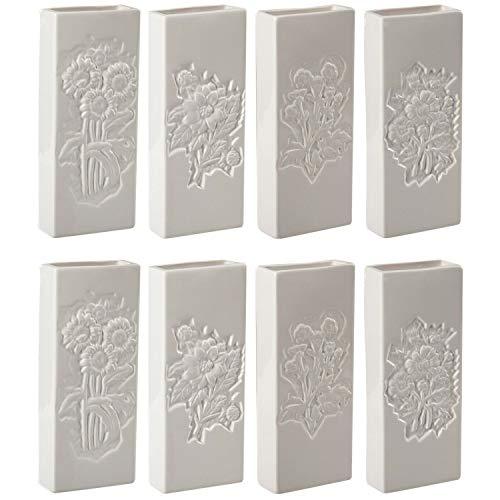 esto24 8er Set Luftbefeuchter Wasserverdunster aus Keramik je 300ml für Heizkörper Verdunster Verdampfer