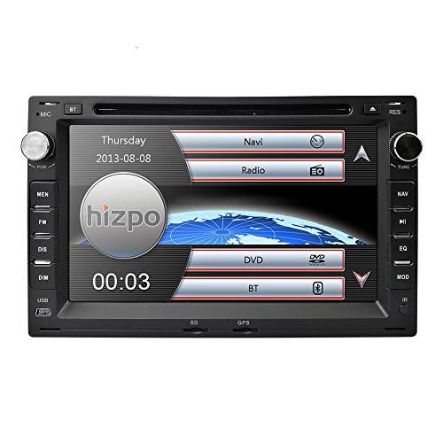 HIZPO - Reproductor de DVD para Coche con Pantalla táctil de 7