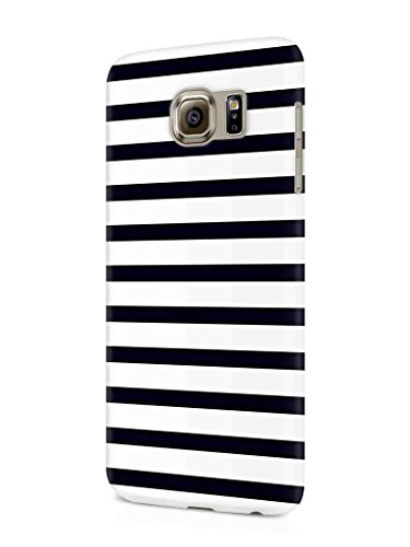 Cover Affair Stripes Printed Designer Slim Light Weight Back Cover Case for Samsung Galaxy S7 Edge (Black & White)