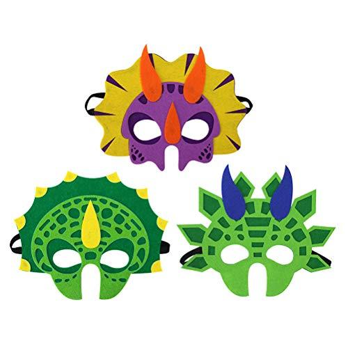 BESTOYARD Dinosaurier Party Masken Dekorationen für Kinder Thema Party Maskerade 3 STÜCKE (Stegosaurus Triceratops ()