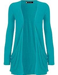 c6cf500ff Amazon.co.uk  Turquoise - Cardigans   Knitwear  Clothing