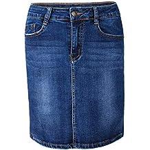 469cfe7af9ab Suchergebnis auf Amazon.de für: jeansrock knielang - Mit Prime ...