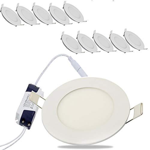 10 x 6 W I Ø 120 mm Lámpara de techo Foco...