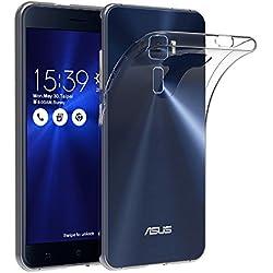 AICEK Coque ASUS ZenFone 3 ZE520KL (5.2 Pouces), Etui Silicone Gel ASUS ZenFone 3 Housse Antichoc ZenFone 3 Transparente Souple Coque de Protection pour ASUS ZenFone 3