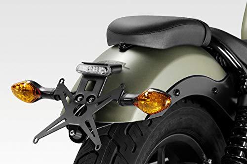 CMX500 Rebel 2017/19 - Kit Placa (S-0805) - Soporte de Matricula Inclinación Ajustable - Luz LED y Tornillería Incluido - Accesorios De Pretto Moto (DPM) - 100% Made in Italy