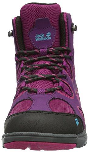 Jack Wolfskin Crosswind Texapore Mid K, Chaussures de Randonnée Hautes Mixte Enfant Violet (dark magenta 2071)