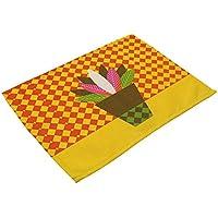 WEKDU Tabla Mats Planta de tiesto ropa de mesa Mantel Mat sale de la flor posavasos for bebidas Pad Pad Doilies mesa Mats (Color : 3, Size : One Size)