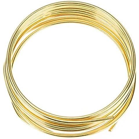 Placcato oro filo di rame per gioielli 1,50mm–1,75m - Copper Wire Bobine