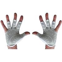 Rudern Handschuhe & Gym Handschuhe–Linke Hand, rechte Hand, Paar Strukturierte Handfläche–Best bequem Rudern) Fingerlose Handschuhe für Männer Frauen