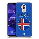Head Case Designs Isländische Fahne Fahnen Flicken Ruckseite Hülle für Huawei Mate 20 Lite