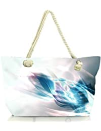 Snoogg Abstract Blue And White Pattern Design Women Anchor Messenger Handbag Shoulder Bag Lady Tote Beach Bags...