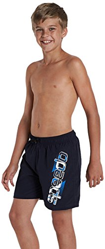 Speedo Jungen Graphic Freizeit 38,1 cm Poolreef Small Navy/Baja Blue, 116 (Shorts Blue Boys Navy)