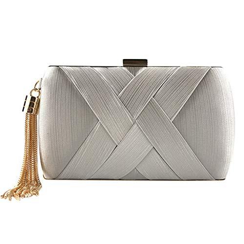 XZDCDJ Geldbörse Damen Handtasche Clutch Brieftasche Damen Damenmode Quaste Kupplungen Abendtaschen Handtaschen Hochzeit Geldbörse Schminktäschchen -