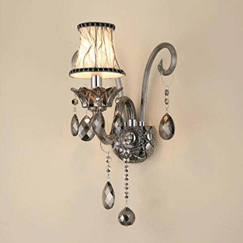 GAODUZI Cristal Mur Lumière Salon Mur Lumière LED Bougie Chambre Chevet Lampe Allée E14 ( taille : 25cm )