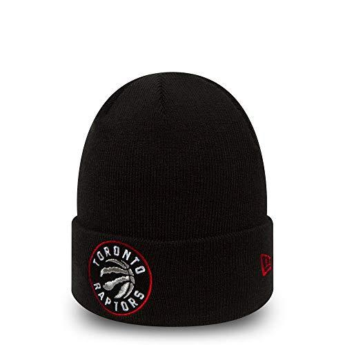 New Era Toronto Raptors Benie Team Essential Cuff Knit Black - One-Size Toronto Raptors-fan