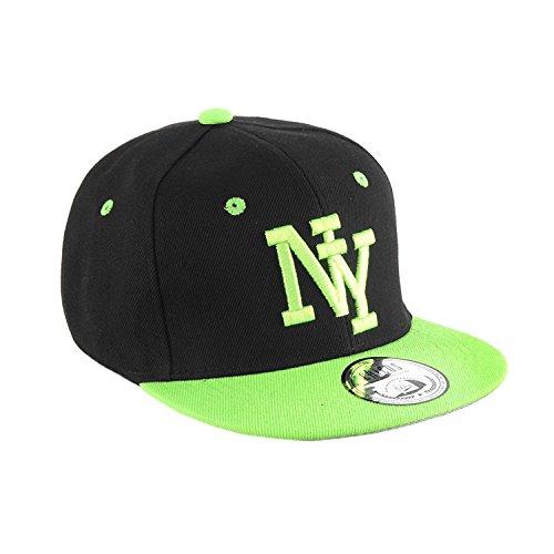 JOHNNY CHICOS NY New York süße Kindercap Kinder Cap Snapback 46-56cm Kopfumfang, Größe:Kinder;Farbe:NY Blk Grün
