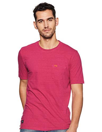 Superdry Herren Dry Originals S/S Pocket Tee T-Shirt, (Florida Pink Space Dye Z2H), XL - Florida-t-shirts