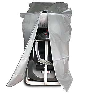 Coperchio Tapis roulant 190T impermeabile Zipper copertura antipolvere egymcom facile pulizia pieghevole di protezione per la casa grandi elettrodomestici (Silver)