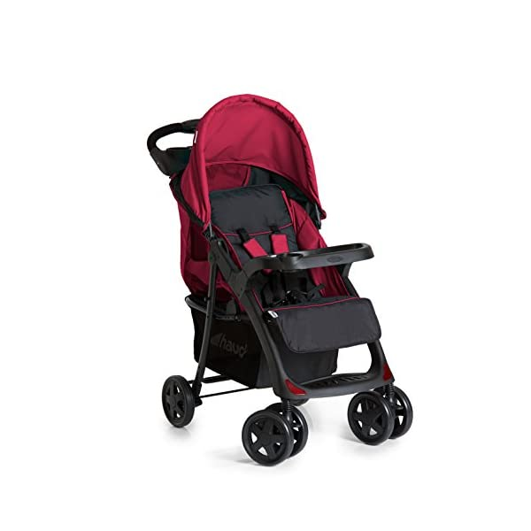 Hauck Shopper Neo II, Folding Pushchair from Birth to 25 kg, Lightweight with Lying Position, Two Cupholder Trays, One Hand Fold, Caviar/Tango Hauck Fold in seconds with one hand Comfortable seat with lying position and adjustable footrest Includes 2 practical bottle trays 2