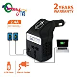 myTVS TLC-28 Car Laptop and Mobile Charger Power Inverter AC to DC Converter-Black