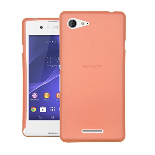 CUBIX® Sony E3 Dual Case, Hard (Semi Transparent) Super Slim Matte Back Cover For Sony Xperia E3 Dual (Orange)  available at amazon for Rs.350