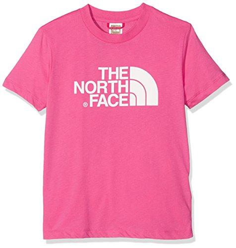 The North Face y S/S Easy tee Camiseta, Unisex Niño, Rosa, XL