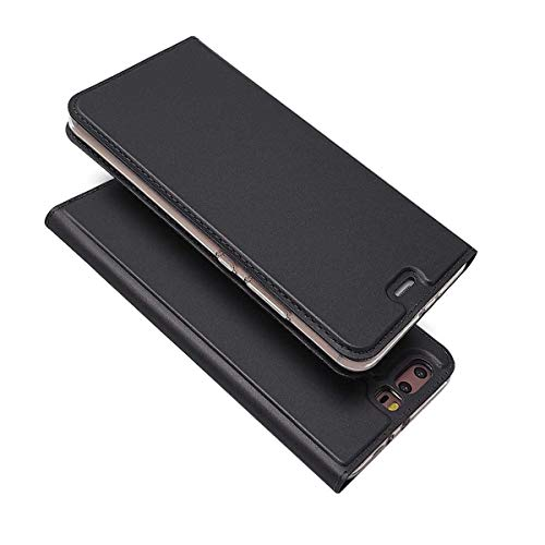 Bravoday Cover Huawei P10 Plus, Custodia Huawei P10 Plus Portafoglio, Ultrasottile Design con [Supporto Stand][Chiusura Magnetica] Flip Portafoglio Cover per Huawei P10 Plus -Nero