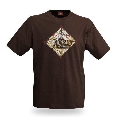 ed Journey Film T-Shirt Thorin Eichenschild, lizenziert, großes Thorin Logo, Baumwolle, braun - XL (Aragorn König Von Gondor)