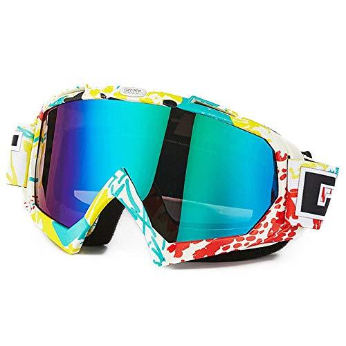 KOMNY Reitbrille Windproof Brille Anti-Twist und Anti-Fall-Brille staubdicht Motorrad-Off-Road-Brille Skibrille, B