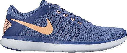 Damen Flex Rn Nike 2016 apricot Laufschuhe Wmns blau pggqd1Ax