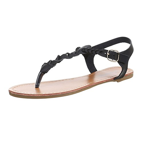 Ital-Design , Escarpins peep-toe femme Noir