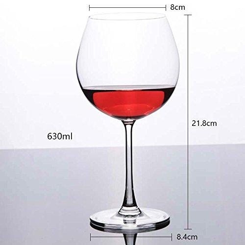 XBJBPL Copa De Vino/Copas De Vino Tinto,Burdeos/Merlot/Cabernet Wine Glasses Copas De Vino Tinto - Sin Plomo - Resistente A Los Golpes - Set De 6 Copas De Vino, Transparente, 630Ml