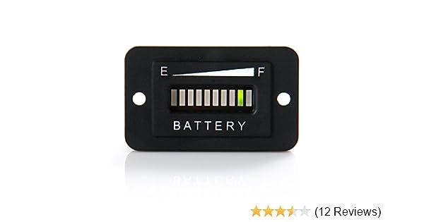 12V//24V//36V//48V LED LED-Anzeige f/ür digitale Batterieanzeige BI003-12//24V Batterieanzeige
