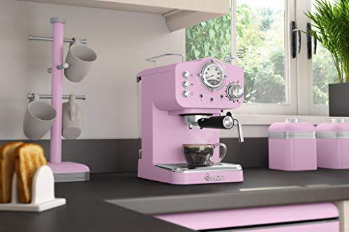 Swan cafetera Espresso SK22110PN, retro, color rosa