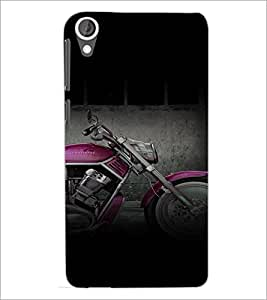 PrintDhaba Bike D-4464 Back Case Cover for HTC DESIRE 820 (Multi-Coloured)