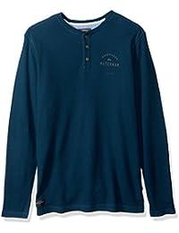 Quiksilver Men's Thermal Creeks Waffle Henley Dress Shirt
