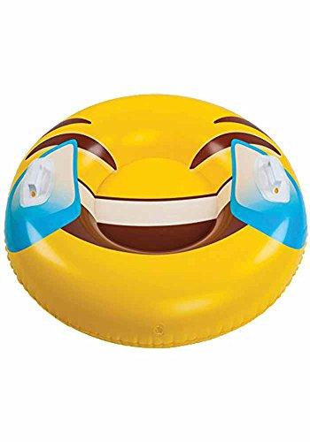BigMouth Inc Wasserrutsche Bob Schlitten Smilie Emoji Rutsche aufblasbar 100 cm