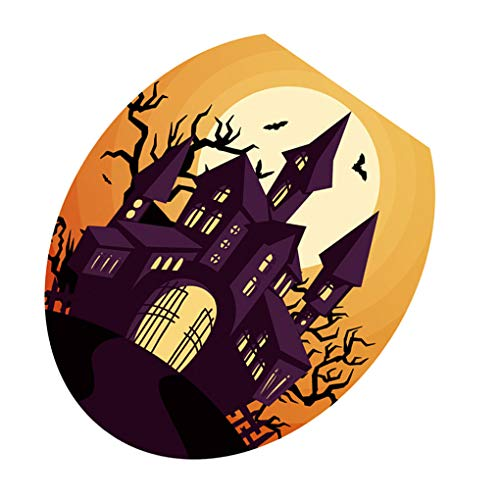Mengonee Halloween-Party-Thema WC-Aufkleber Adhesive Oval PVC-Abziehbilder Badezimmer Scary Creepy ()