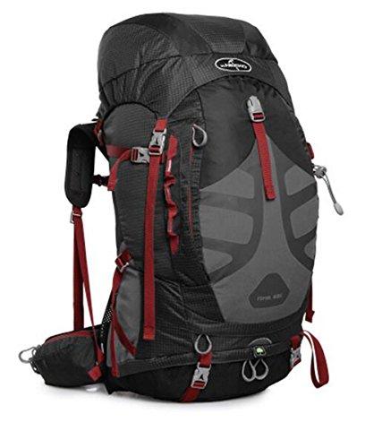 Spalla uomini e donne alpinismo borse 48L escursione esterno di borsa zaino borsa ( Colore : Nero , dimensioni : 48L ) Nero