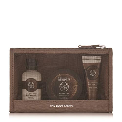 Les Sacs Body Shop fête Beauté -Fraise-Mangue-rose britannique-Shea-Noix de coco/The Body Shop Festive Beauty Bags - Argan Oil-Strawberry-Mango-Shea-Coconut- (Fraise) (Noix de coco)