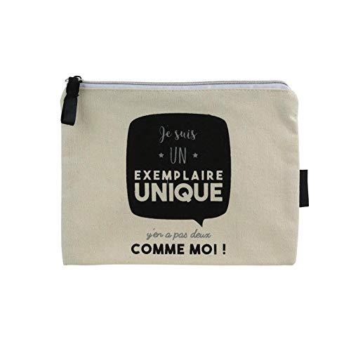 13d66d4ca3 DITES-LE AVEC DES MOTS Pochette en Toile Je suis Un Exemplaire Unique Noir