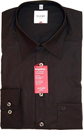 Olymp Hemd Luxor Comfort Fit - schwarz, Kragenweite:43