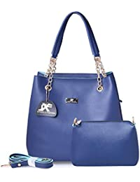 Speed X Fashion Women's Leather Handbag & Sling Bag Combo (RTY00N-Blue)