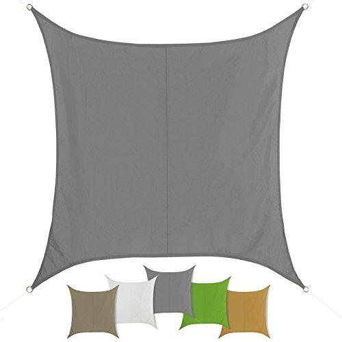 El toldo SUN FRANCIS con forma cuadrado 100 % poliéstere [PES] en muchos colores diferentes , Tamaño:3m x 3m;Color:Graníto
