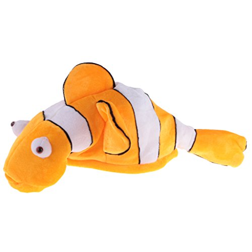 Clownfish Kostüm - MagiDeal Karikatur Fischmütze Kostüm Kinder Erwachsene Hut Maske Mütze Fancy Party Geburtstags Geschenk - Gelb Clownfish, 53 cm