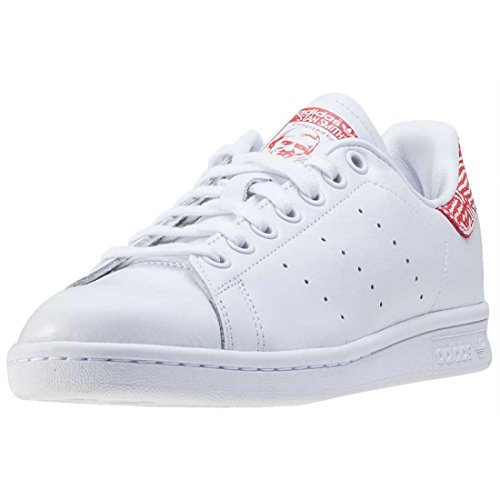 adidas Stan Smith, Scarpe da Ginnastica Basse Donna White Red