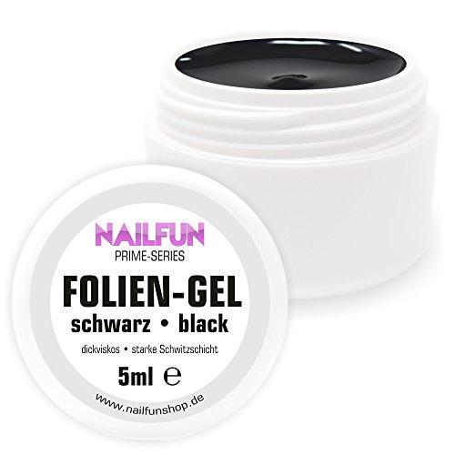 NAILFUN FOLIENGEL - UV-Gel schwarz - 5ml - ideal für Nailart mit Transferfolie -