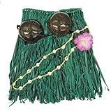 Hawaiian Grass Rock Set Kokosnuss-BH Top grün Erwachsene