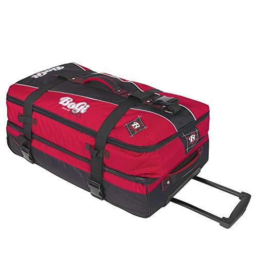 BoGi Bag Unisex– Erwachsene Reistrolley 110 Liter-Rot/Schwarz Reisetasche 85 cm - 2