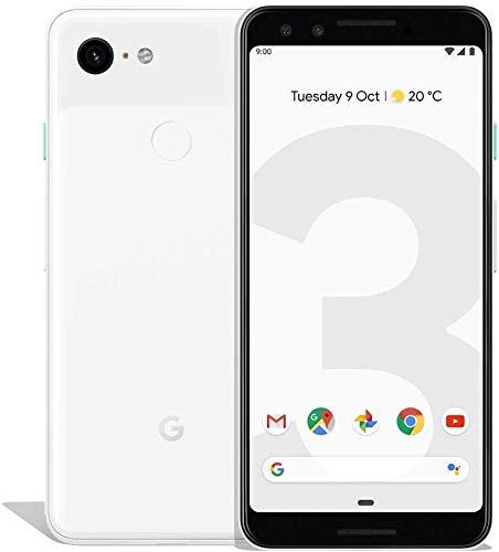 Google 99928198 Pixel 3 13, 86 cm (5, 46 Zoll) Smartphone (2.5 GHz, 64 GB, 12.2 MP) klar Weiß (Generalüberholt)